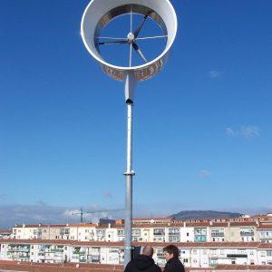 Instalación minieólica de Alba Renova